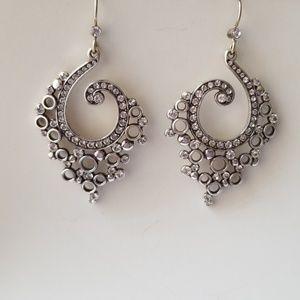 Brighton Silver Drop Earrings